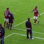 West Ham make a sub