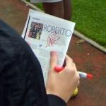 A fan's autographed programme