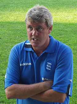 Greenall's coaching successor, Steve Bruce.