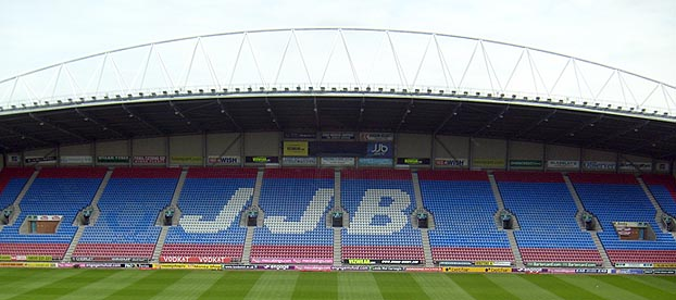 Look, I haven't had chance to get a picture of the empty East Stand since they rebranded it the DW, OK?
