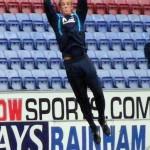 Joe Hart leaps like a salmon