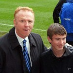 Alex McLeish and a friend