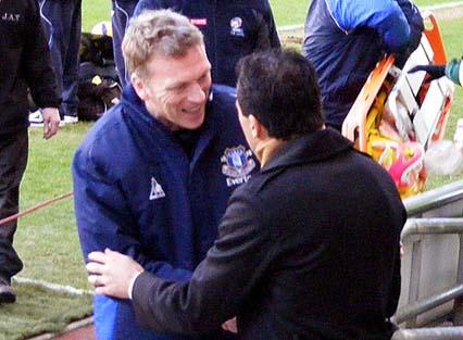 David Moyes and Roberto Martinez