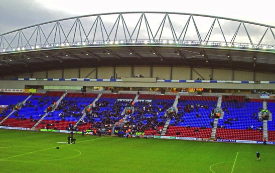The 'sparse' West Stand