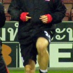 Rory Delap warms up