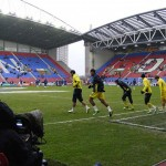 Spurs emerge for warmup