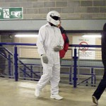 The Stig stalks the West Stand concourse