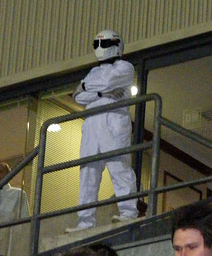 The Stig looks on as Latics make another draw