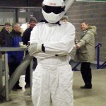 The Stig in the West Stand concourse