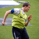 Gary Caldwell heading warmup