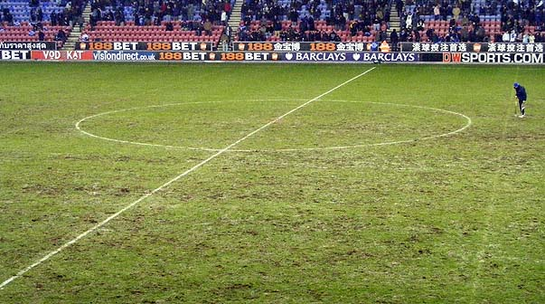 DW Stadium pitch