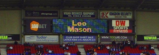 DW scoreboard: Lee Mason