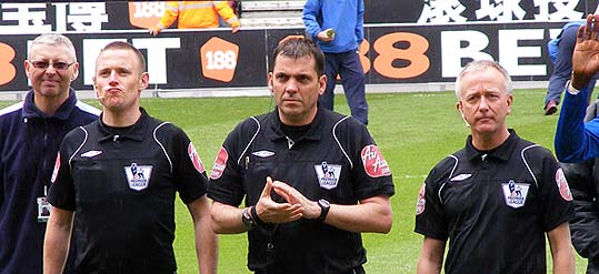 Phil Dowd and his fellow officials