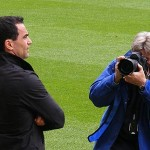 Martinez is snapped by a photographer