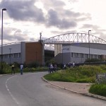 The DW Stadium prior to kickoff