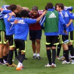 Zaragoza huddle