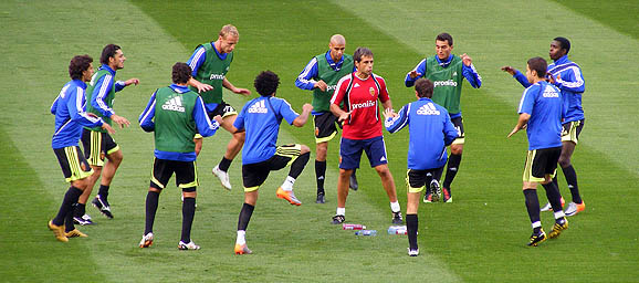 Zaragoza warmup, DW Stadium, 4 August 2010