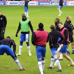 Latics warmup