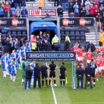 Teams emerge from the tunnel