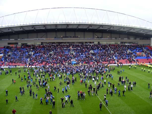 Wigan-West Ham pitch invasion