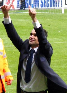 Roberto celebrates