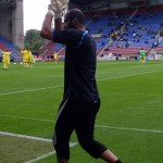 Al Habsi applauds the crowd