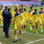 Villareal head back to dressing room