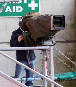 Cameraman in East Stand