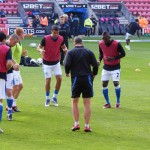 Latics communal warmup
