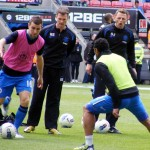 Jones, McCarthur and Beausejour training