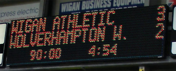 Wigan Athletic 3-2 Wolverhampton Wanderers