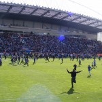 Wigan v Wolves pitch invasion