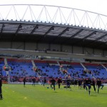 Wigan v Wolves - West Stand warmup