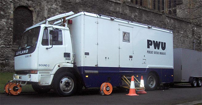 PWU outside broadcast truck