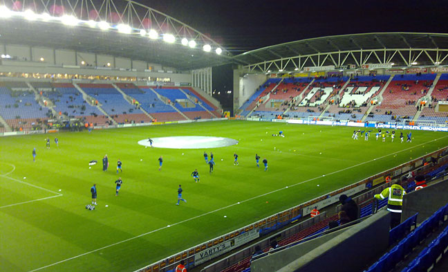 Wigan v Bradford warmup