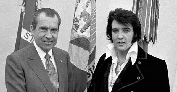 Elvis Presley with Richard Nixon