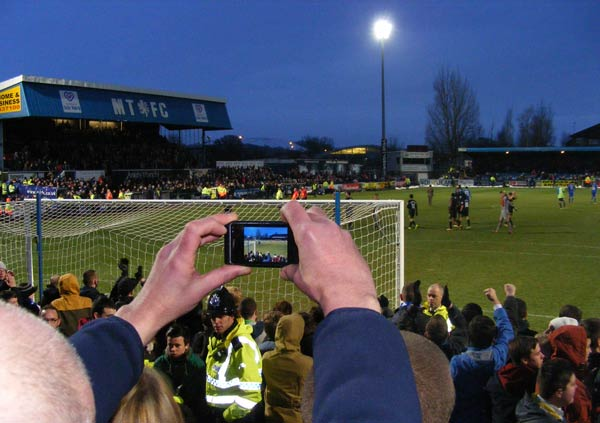Fan snapshot, Macclesfield v Wigan 26 Jan 2013
