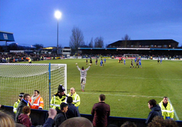 Final whistle blow, Macclesfield v Wigan 26 Jan 2013