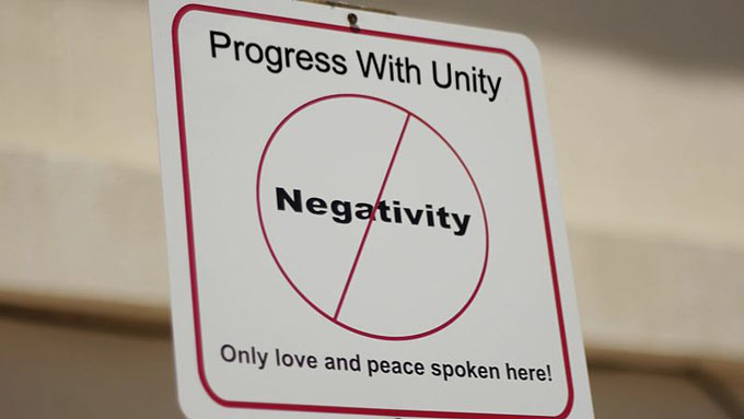 Progress With Unity - No Negativity
