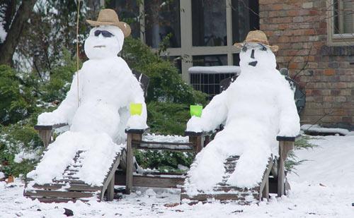 Snow spectators