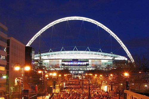 Wembley Stadium evening