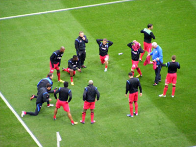 Latics Wembley warmup (2)