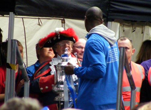 Emmerson Boyce and the mayor