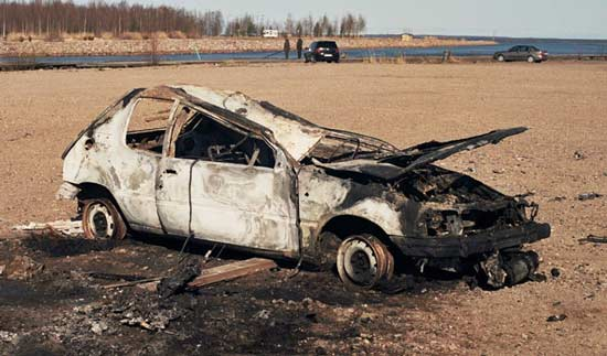 Destroyed Peugeot