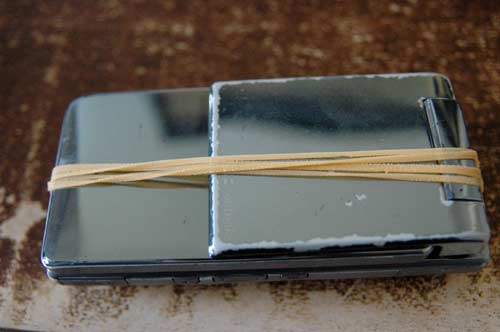 Rubber band phone repair