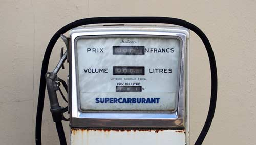 Classic petrol pump