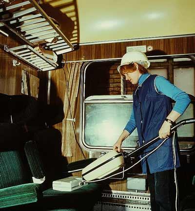 Cleaning a caravan