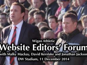 Wigan Athletic Website Editors Forum December 2014