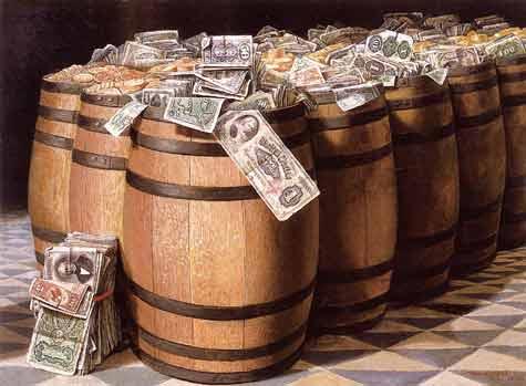 Money barrels