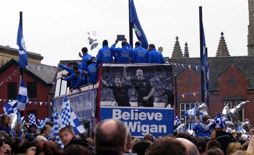 Wigan Athletic FA Cup parade